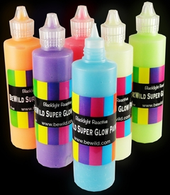 3 Pack of Super Glow in the Dark Paint Set (Assorted)