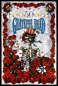 3D Grateful Dead 50th Anniversary FTW Tapestry  60 x 90""