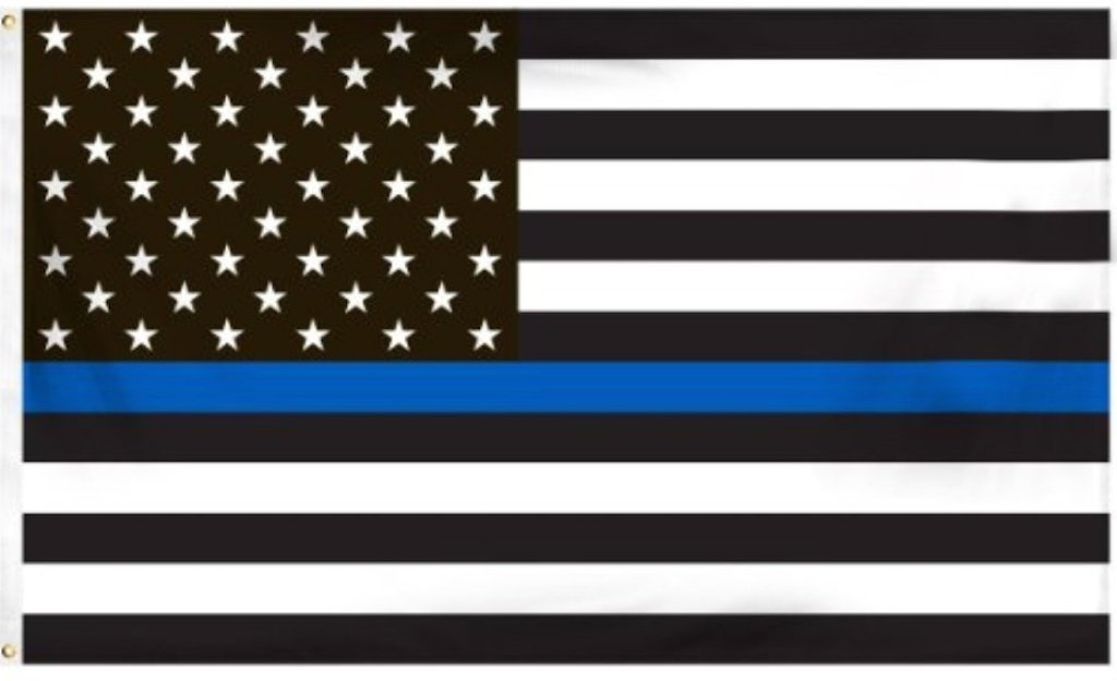 4 by 6 Foot BlueLine Flag, Thin Blue Line Flag, Black ...