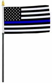 4x6 Inch Blue Line American Police Flag