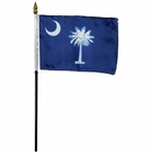 4x6 Inch South Carolina State Flag