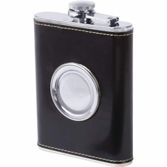 6.8oz Stainless Steel Flask with Built-In Cup
