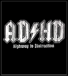 "ADHD  Distressed Logo T-Shirt :: From HBO's Hit Series ""The Entourage"""