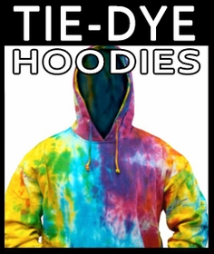 Adult Size Tie Dye Hoodies - Hooded Sweatshirts