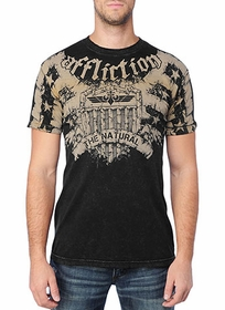 Affliction T-shirt - Affliction Couture Veteran Crewneck T-shirt
