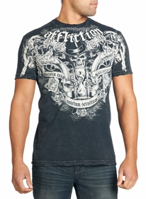 Affliction T-shirt - Affliction Gun Powder Crewneck T-shirt