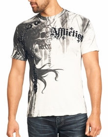 Affliction T-shirt - Affliction Indian Chief Crewneck T-shirt