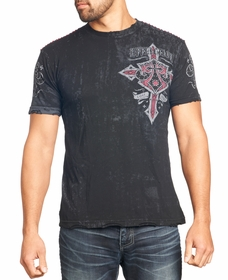 Affliction T-shirt - Affliction Lifeline Crewneck T-shirt