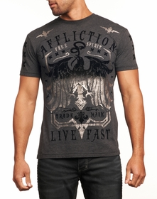 Affliction T-shirt - Affliction Miser Crewneck T-shirt