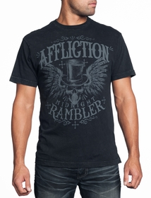 Affliction T-shirt - Affliction Rambler Crewneck T-shirt (Black)
