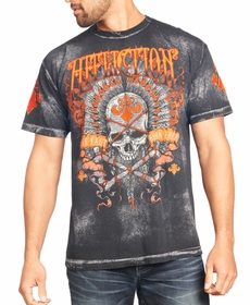 Affliction T-shirt - Affliction Rambler Crewneck T-shirt (Gray)