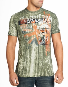 Affliction T-shirt - Affliction Wild In The Streets Crewneck T-shirt