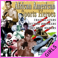 African American Sports Heros Girl's T-Shirts
