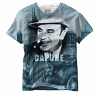Al Capone All Over Sublimation Print Mens T-shirt