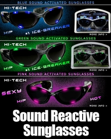 Amazing Sound Reactive RAVE LED Sunglasses