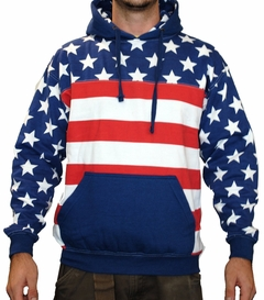 American Flag Adult Pull Over Hoodie