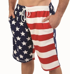 American Flag Comfortable Soft Fleece Shorts