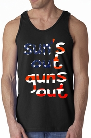 American Flag Sun's Out Guns Out Men's Tank top