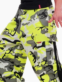Amok Neon Green Camo Pants