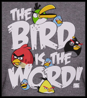 "Angry Birds ""Bird is the Word"" T-Shirt"