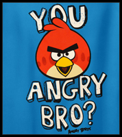 "Angry Birds ""You Angry Bro?"" Men's T-Shirt"