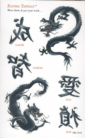 Asian Dragon Temporary FakeTattoos