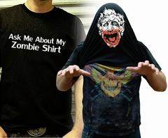 Halloween Costume T-Shirt - Ask Me About My Zombie Shirt T-Shirt