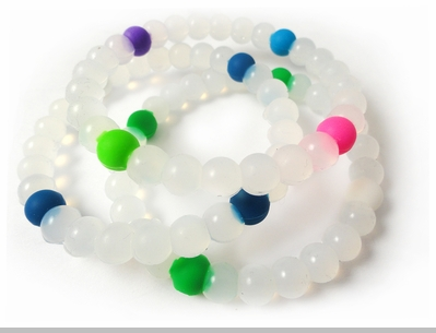 Assorted Clear Karma Bracelet (3 Pack)<!-- Click to Enlarge-->
