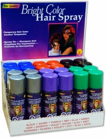 Assorted Spray in Hair Color (24 Pack - Only $2.29 Per Can)