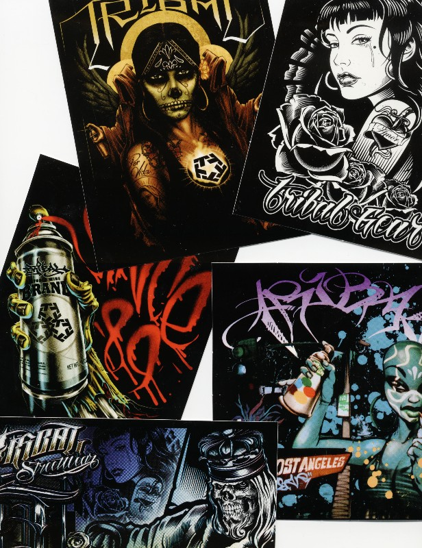 Assorted Tribal Gear Stickers 6 Pack