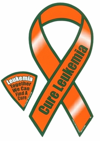 Awareness Car Magnets - Cure Leukemia Car Ribbon Magnet