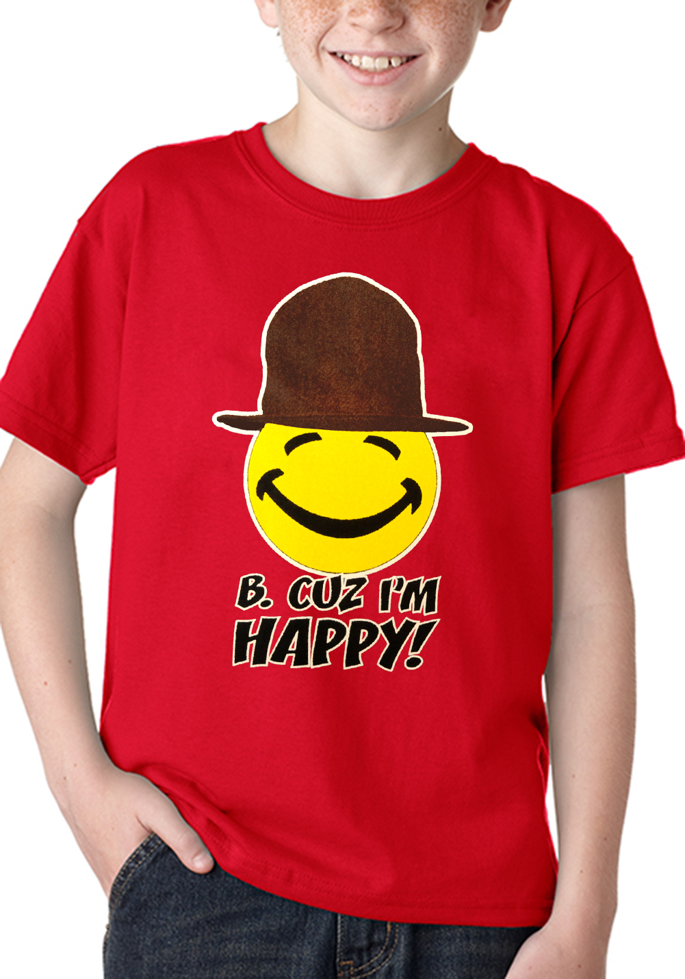 Buy I'm So Happy Here T-Shirt from northtercessbudh.cf This t-shirt is Made To Order, one by one printed so we can control the quality. We use newest DTG Technology to print on to I'm So Happy Here T-Shirt.