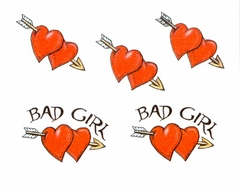 Bad Girl  Temporary Fake Tattoo