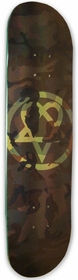 Bam/Him Camo Heartagram Skateboard Deck
