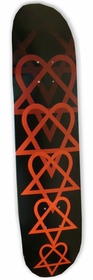 "BAM/Him ""Fade Heartagram"" Skateboard Deck"