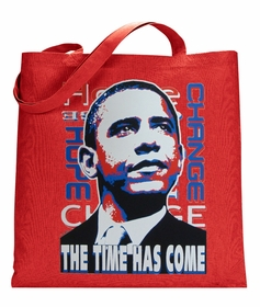"Barack Obama ""The Time Has Come"" Canvas Tote Bag"