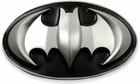 Batman 3D Logo Belt Buckle With FREE Belt (Black/Silver)