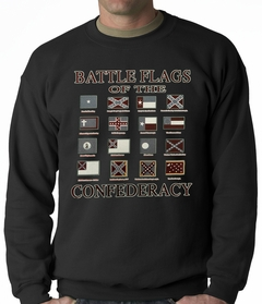 Battle Flags of the Confederacy Adult Crewneck