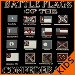 Battle Flags of the Confederacy Kids T-shirt