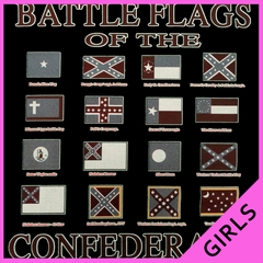Battle Flags of the Confederacy Ladies T-shirt