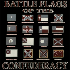 Battle Flags of the Confederacy Mens T-shirt