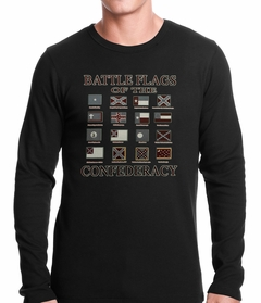 Battle Flags of the Confederacy Thermal Shirt