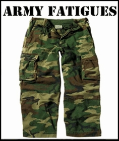 BDU Military Paratrooper Fatigues & Cargo Pants