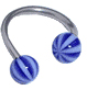Beachball Twisted Navel Jewelry (Blue)