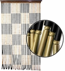 Beaded Curtains - Checker Board Wooden Door Beads