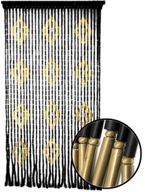 Beaded Curtains - Diamond Wooden Door Beads