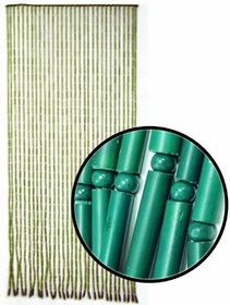 Beaded Curtains - Green Bamboo Door Beads