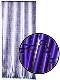 Beaded Curtains - Purple Bamboo Door Beads