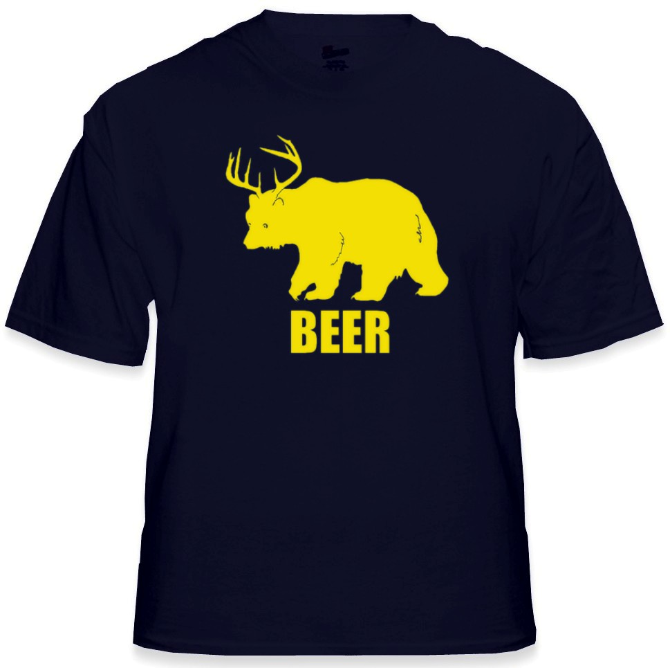 bear deer beer t shirt. Black Bedroom Furniture Sets. Home Design Ideas