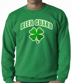 Beer Guard Irish Shamrock St. Patrick's Day Crewneck